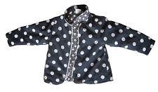 Pumpkin Patch boy's winter jacket size 3, dark blue with white polka-dots new