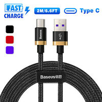 Baseus USB-C Type-C 3.1 Quick Charger Fast Charging Data Sync Cable Cord LOT