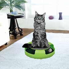 More details for cat kitten catch the mouse moving play toy interactive plush scratching claw mat