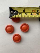 4 Bright Orange Retro Round Buttons -  As Per Picture For Size