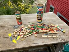 Vintage The Original Tinker Toys misc lot made in Usa