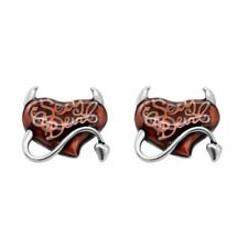 Heart Earrings Red Sexy Devil Stainless Steel Jewelry By Controse