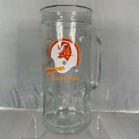 Vintage Fisher Peanuts NFL Tampa Bay Buccaneers Football Glass Beer Stein Cup