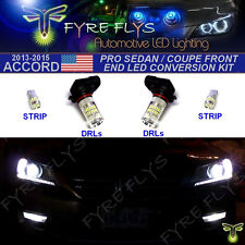 4 Piece Super Bright White Pro Front End LED Upgrade Kit 9th Gen Accord 4dr 2dr