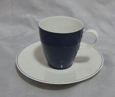 Rosenthal Secunda Blau Cobalt Blue and White Demitasse Cup and Saucer Set