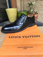 AUTH LOUIS VUITTON MENS SHOES OXFORDS DAMIER EBENE US SIZE 11 MADE IN ITALY