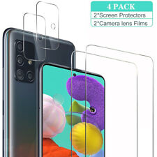 For Samsung Galaxy A71 5G Tempered Glass Screen Protector+Camera Lens Protector