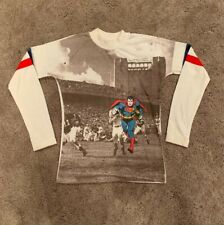 Vtg 1975 Superman Longsleeve Shirt Kids Size 12 Football Super Rare Rob Roy Hero