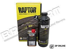 RAPTOR 1 750ML URETHANE BLACK U-POL PROTECTIVE PAINT AND 1 250ML HARDNER DA6497