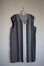 MANGO BASICS LADIES NAVY BLUE & WHITE PATTERNED SHIFT DRESS SIZE XL