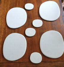 Great Set of 4 Pebble Shaped Stone Placemats & Coasters