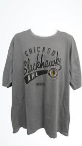 New Chicago Blackhawks Mens Size 2XL 2XLarge Gray CCM Shirt