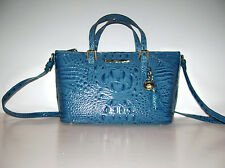 NEW Brahmin Mini Asher Teal Melbourne Leather Tote NWT $235