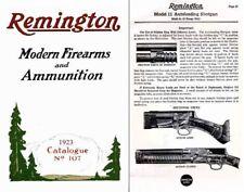 Remington 1923 Firearms & Ammo No. 107 Gun Catalog