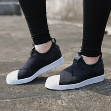 adidas Originals Women's Superstar Slip-On Sneakers CQ2382 Black/White