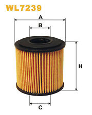 Wix WL7239 Car Oil Filter Eco Cartridge Replaces HU68x CH9024 OX1411D
