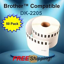 DK-2205 Continuous Feed Thermal Labels Brother™ P-Touch® QL Compatible 50 Rolls