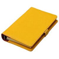 MODA Organizador de bolsillo Cuaderno diario memorandum de cuero de planifi S6E5