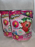NEW Lot of 2 Shopkins Color Twist Bath Bombs ~ Strawberry Scent