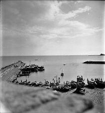 ESPAGNE c. 1955 - Bateaux Le Port Sitges - Négatif 6 x 6 - Esp 234