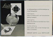 Leitz Polarisationsfilter en Allemand Deutsch Prospectus 2 pages 1950