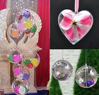 5 pièces Décoration De Noël Plastique Transparent Boules Ornement