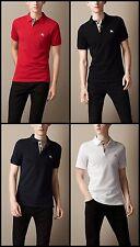 Burberry Brit men's short sleeve nova check placket polo shirt t-shirt s,m,l