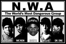 NWA 24X36 POSTER WALL ART HIPHOP LEGENDS COOL ARTISTS RAPPER RECORDS MUSIC HOOD!