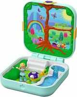 Polly Pocket Hidden Hideouts Flutterrific Forest Compact Playset Surprise Toy
