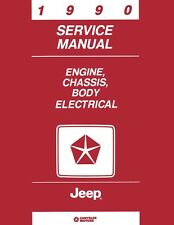 1990 Jeep Cherokee Comanche Wrangler Shop Service Repair Manual Book Guide OEM