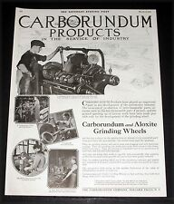 1919 OLD MAGAZINE PRINT AD, CARBORUNDUM PRODUCTS, IN THE SERVICE OF REPAIR SHOP!