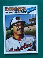 1977 Topps REGGIE JACKSON Baltimore Orioles Yankees Baseball REPRINT Proof Card