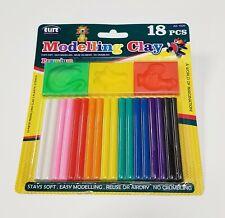 "Modeling Clay Set for Kids - 18 Multi Color 3"" Sticks Mold Arts Crafts Reusable"