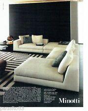 PUBLICITE ADVERTISING 126  2006   Miniotti  meubles canapés salon fauteuil