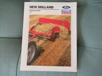 1989 Ford New Holland 144 windrow inverter brochure
