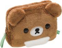 San-X Rilakkuma Soft Stuffed Toy Wallet Brown Bear Coin Purse Plush Doll japan