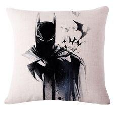 "Batman Dc Marvel Superhéroe Funda De Cojín Almohada Lino Algodón 18"" Reino Unido Vendedor/2"