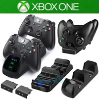 For XBOX ONE Dual Charging Dock Station Controller Charger +2 Extra Battery Pack