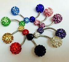 Shamballa Belly Rings with Swarovski Crystals body jewelry