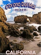 Corona Del Mar Beach California United States Travel Advertisement Art Poster