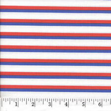 Red, White & Blue Stripes Quilt Fabric - 1/2 Yard Piece