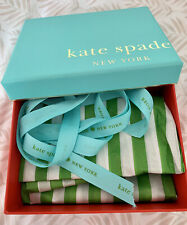 Kate Spade Empty Gift Box With Tissue Paper And Ribbon