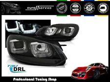 FEUX AVANT PHARES LPVWP4 VW GOLF 6 2008 2009 2010 2011 2012 U-TYPE NOIR DRL