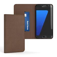 Tasche für Samsung Galaxy S7 Edge Vintage Cover Handy Schutz Hülle Case Braun
