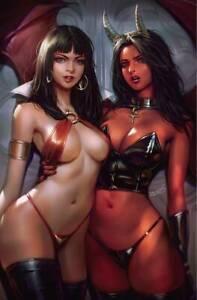 VAMPIRELLA VS PURGATORI #2 CHEW LTD VIRGIN COVER