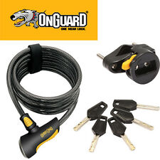 OnGuard Doberman 10mm 6 Foot Coiling Cable With Double Bolt Integrated Lock 8029