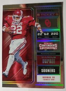 2018 CONTENDERS DRAFT PICKS BOWL TICKET MARCUS DUPREE 62/99 (K)