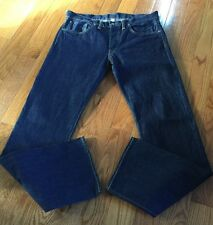 RRL RALPH LAUREN STILLWATER WASH LOW STRAIGHT JAPANESE SELVEDGE JEANS 33X34 USA