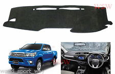 GREY DASH MAT to Suit NEW TOYOTA Hilux 2016-ON SR5 SR Workmate MY16 2017 DASHMAT