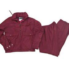 "VTG OBERMEYER ""BLIZZARD"" Ski Jacket /Gore-Tex Pants Womens 8 MAROON Windbreaker"